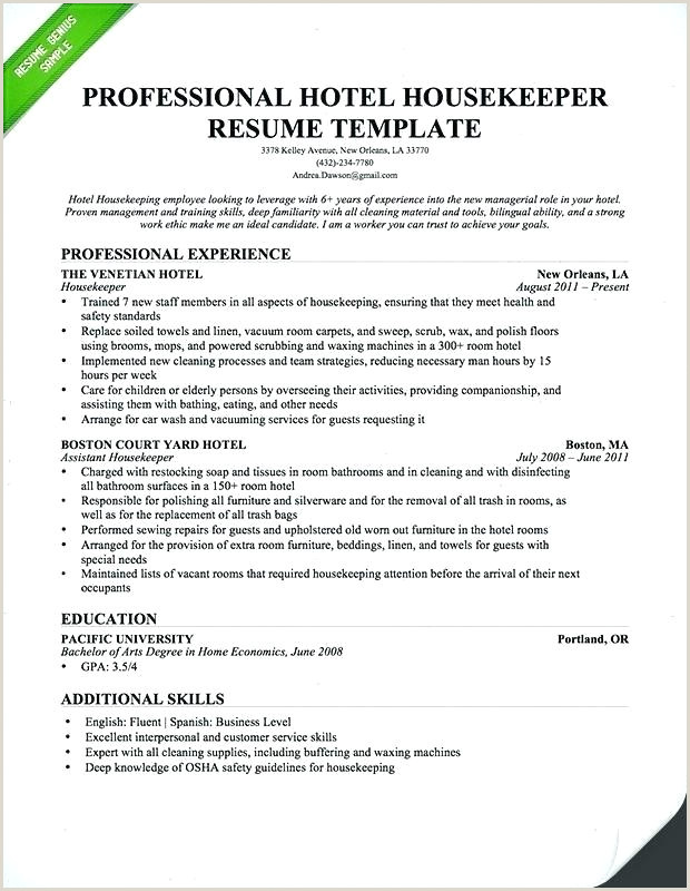 Resume Format For Housekeeping Job Housekeeper Job Description Template