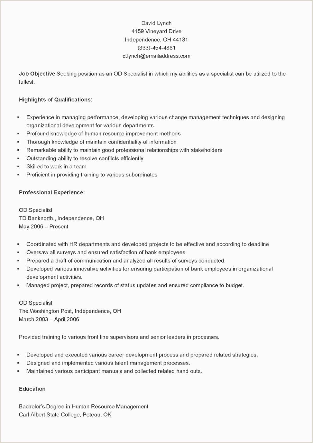 Resume Format For Hr Job Data Analyst Resume Samples Lovely 10 Entry Level Data