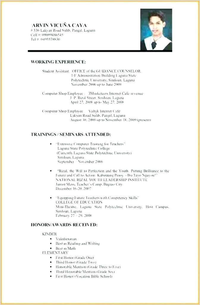 Generic Resume Template Examples Generic Resume Template