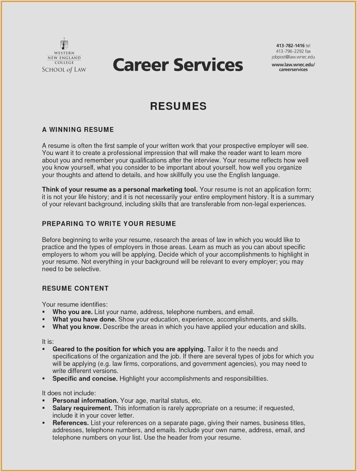Elegant Resume Examples References