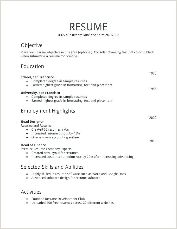 Basic Resume Templates Job Template Download Clean Columns