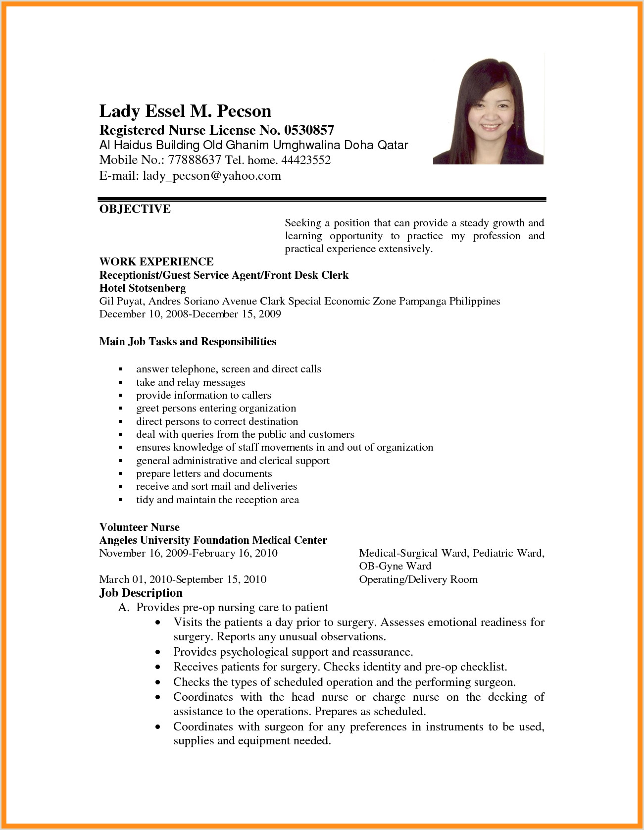 Resume format for Job Application First Time Magnificent Resume format Sample for Jobication Example