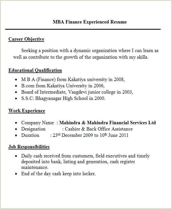 Resume Format For Job B.com Work Resume Format – Airexpresscarrier