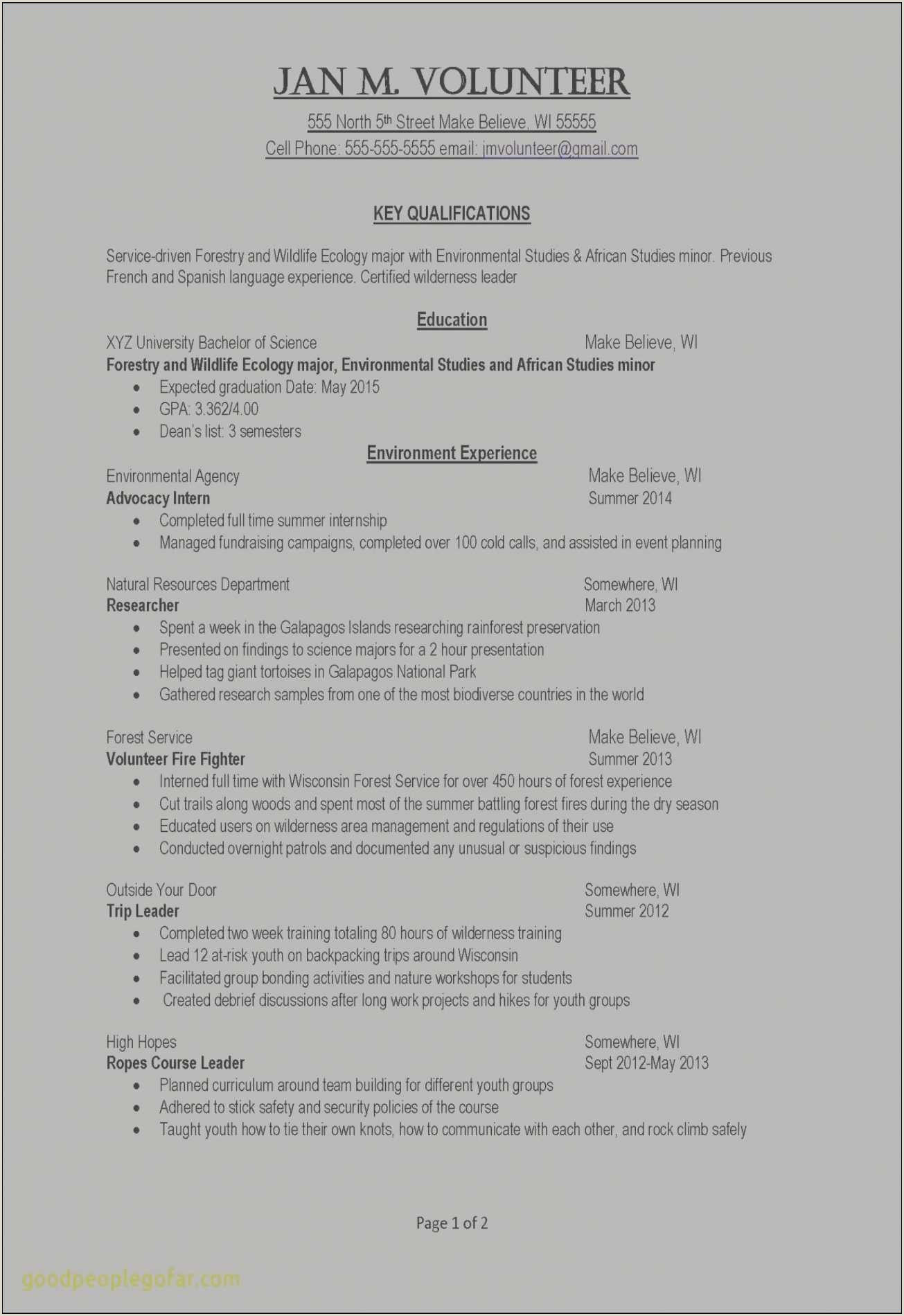 Resume Format For Job Create New E Page Resume Template