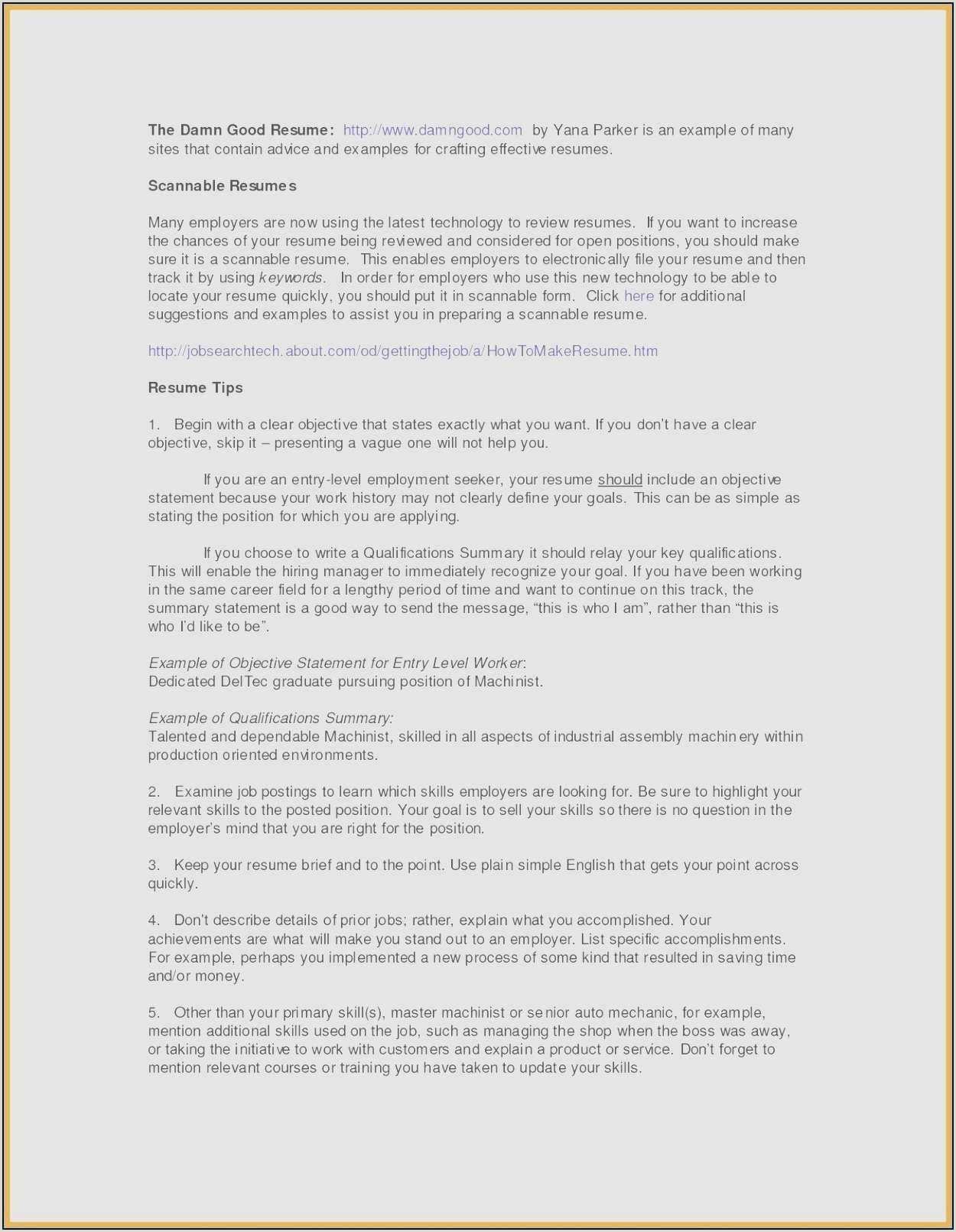 Resume Format For Job Declaration 57 Update Your Resume