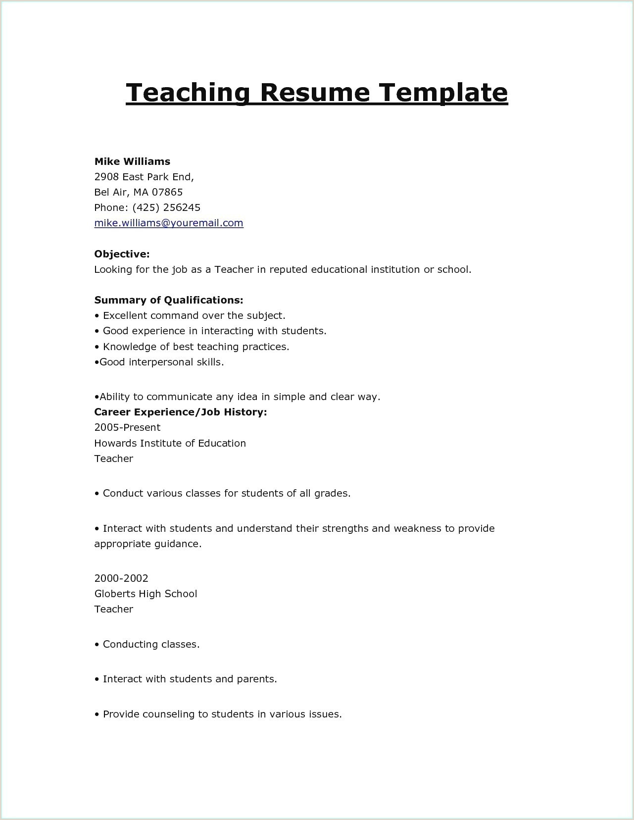 Resume Format For Job Easy Work History Resume Example New Unique Skills To Put Resume