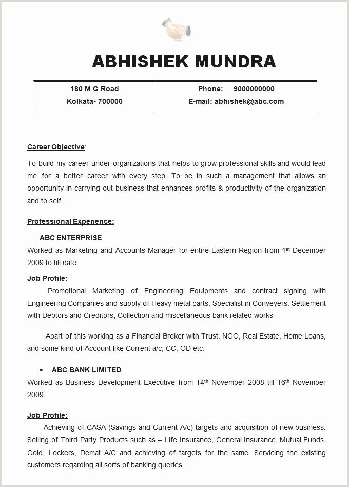 Resume format for Job Experience Cv A Remplir élégant Cv Template Word – Simple Resume