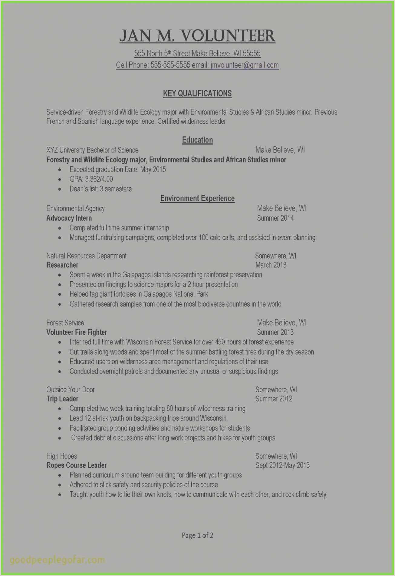 Resume format for Job Experience Pdf Free Download 54 Pdf Templates Examples
