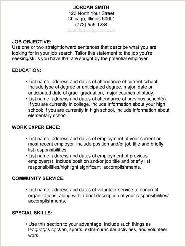 Resume format for Job Experience Pdf Simple Resume Examples for Highschool Students Pdf Resume