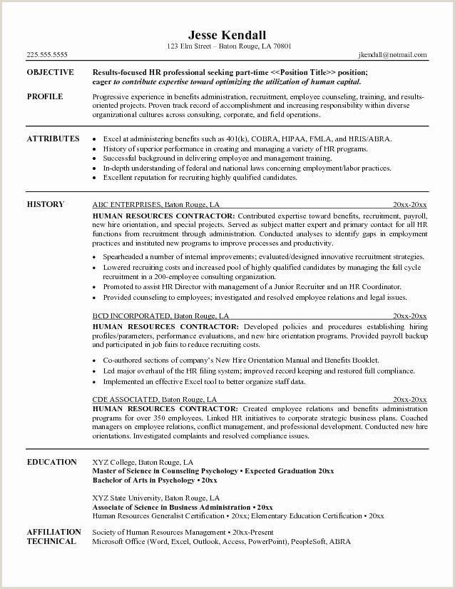 Resume format for Job Fair Payroll Resume Examples Examples Trainer Resume Elegant