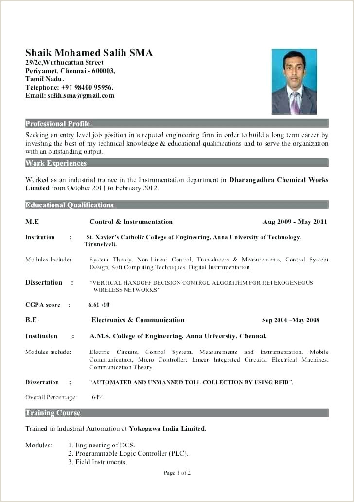 Resume format for Job Fresher Doc Doc Resume Template – Growthnotes