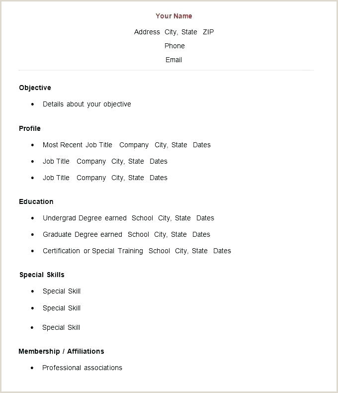 Resume format for Job Fresher Doc Simple Resume format for Freshers – Wikirian