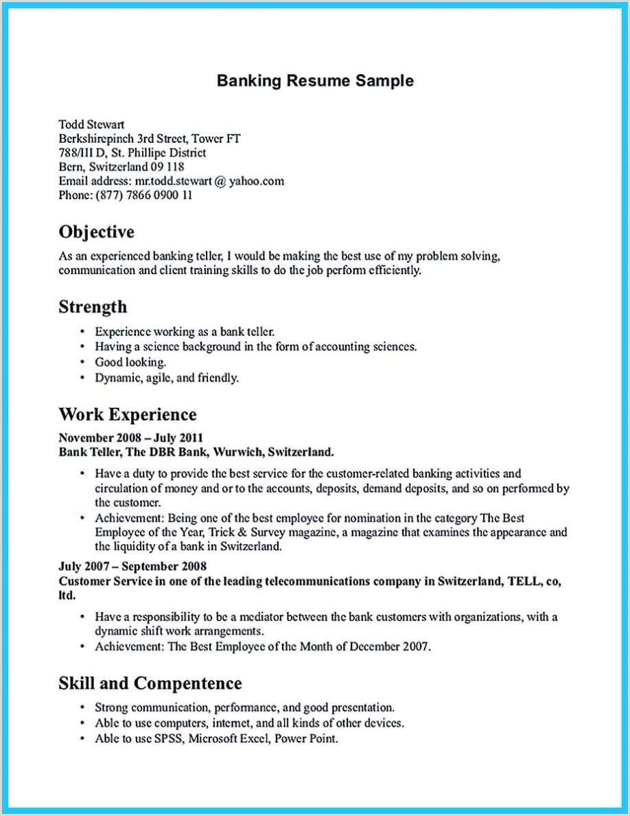 Resume Format For Job Fresher Download Resume Format For Bank Job Pdf Download Curriculum Vitae