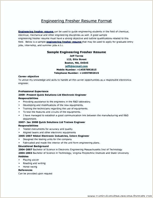 Resume format for Job Fresher Download Resume format for Free In Ms Word Download Doc All Freshers