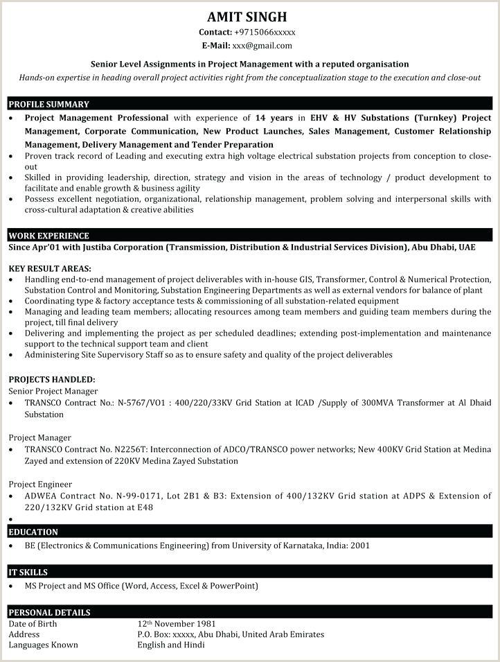 Resume Format For Job Fresher Pdf Download Best It Resume Format – Paknts