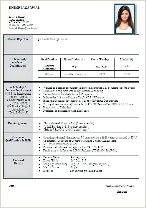 Resume format for Job Fresher Pdf Download Freshers Resume Samples – Growthnotes