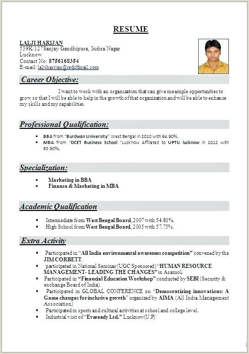 Resume format for Job Fresher Pdf Download Resume for Sap Fico Freshers – Emelcotest