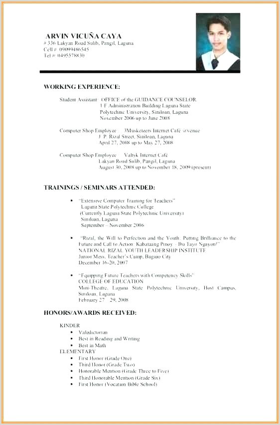 Resume format for Job Fresher Proper Resume format – Paknts