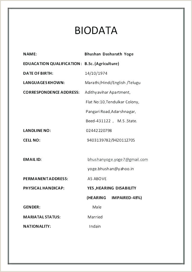 Resume Format For Job Fresher Word Resume Format Ms Word – Dstic