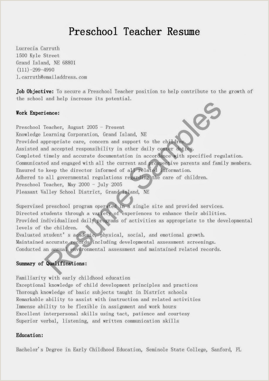 Resume Format For Job Fresher Word Sample Resume For Teacher Job And Teaching With Experience