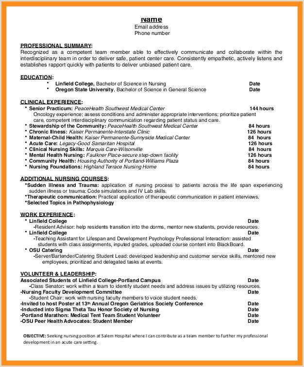 Resume Format For Job Holders 10 11 Resume Examples For Nursing Jobs