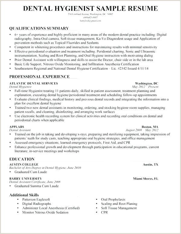 Resume format for Job Hoppers Dental Hygiene Resume Template – Hostingpremium