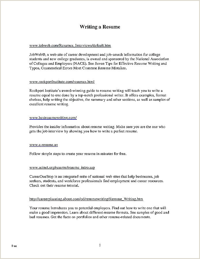 Resume format for Job Interview Pdf Mon Resume format