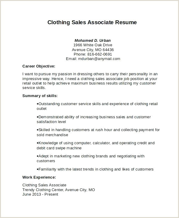 Resume format for Job Latest 25 Professional Retail Salesman Resume Sample