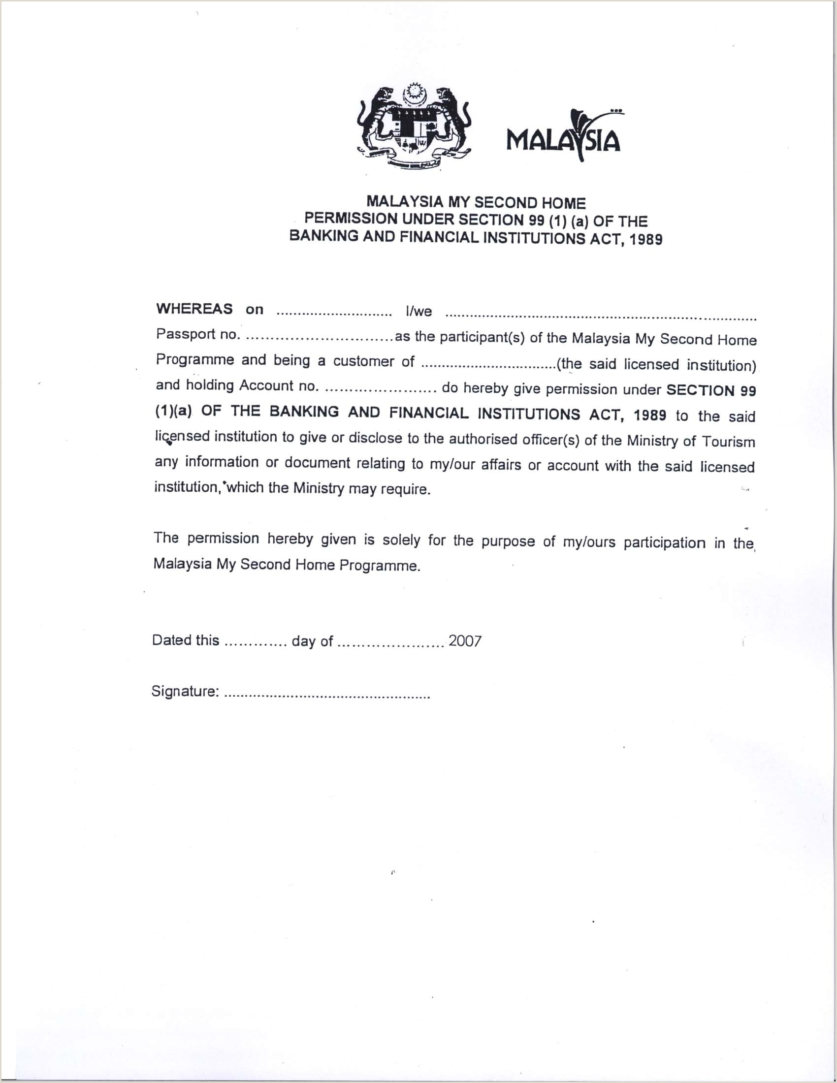 Resume Format For Job Malaysia Malaysia Visa Application Letter Writing A Re Papervisa