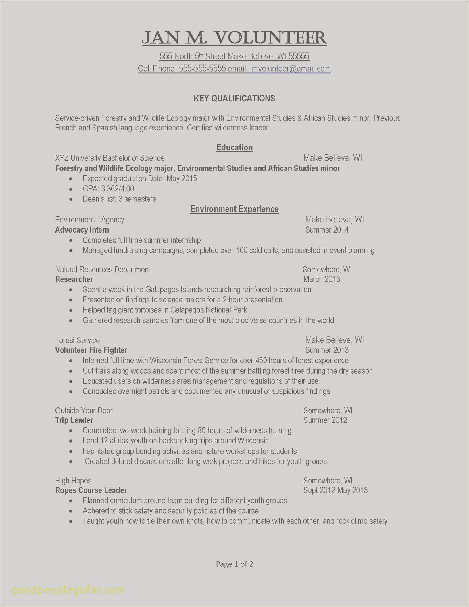 Lovely General Resume Template