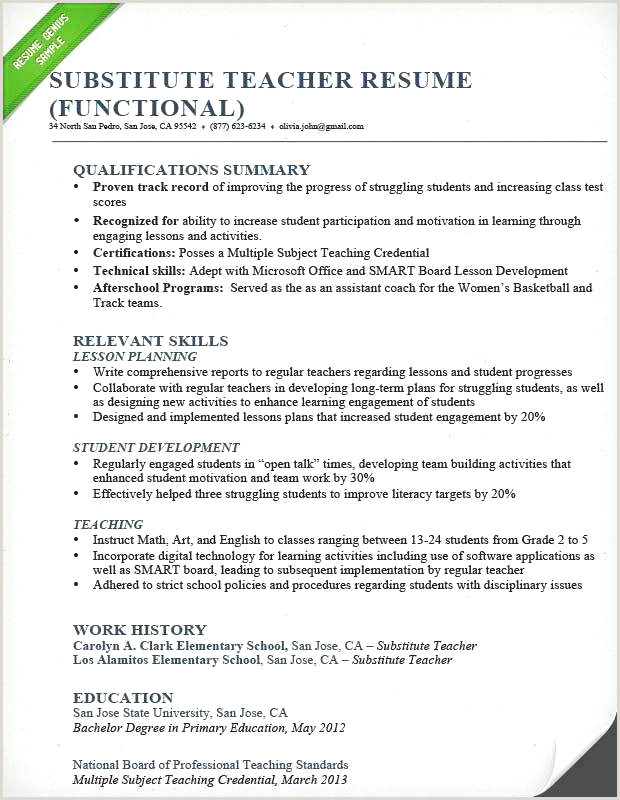 Resume format for Job Of Teacher 41 Simple Motivation Cv Xenakisworld