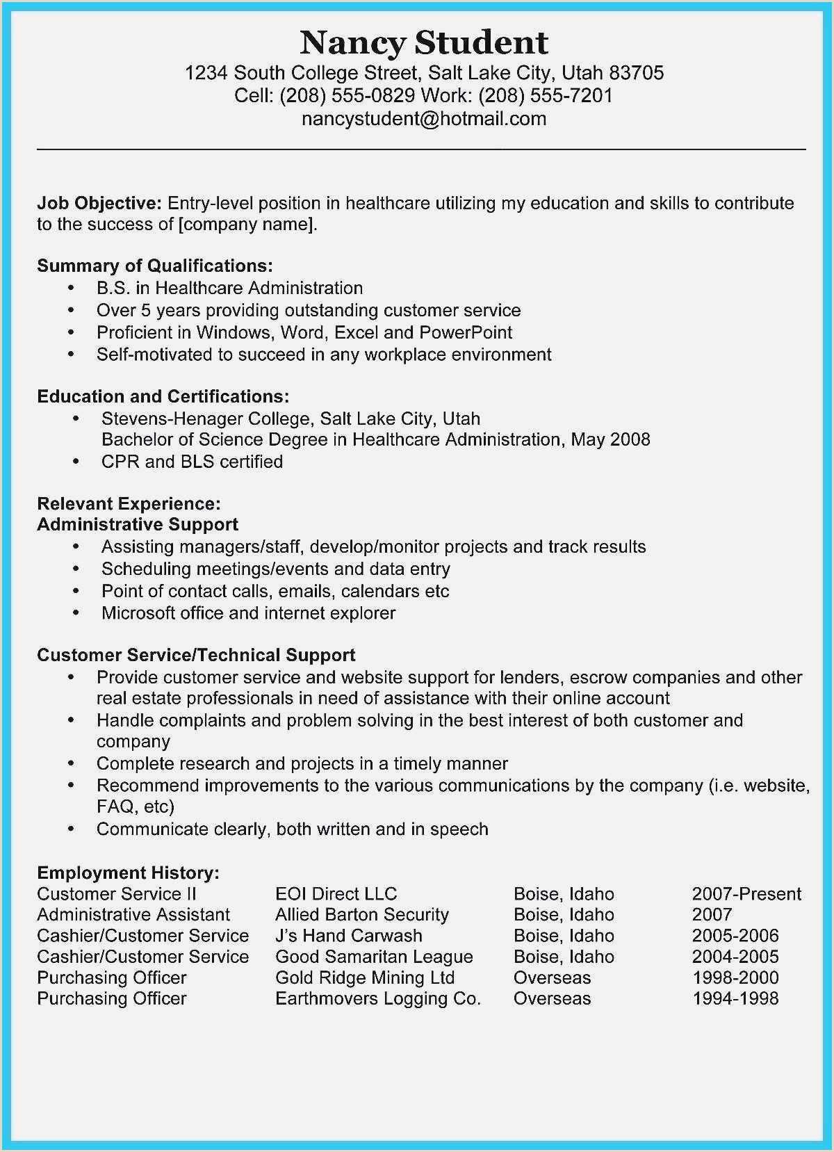 Resume Format For Job Online New Data Entry Resume Sample