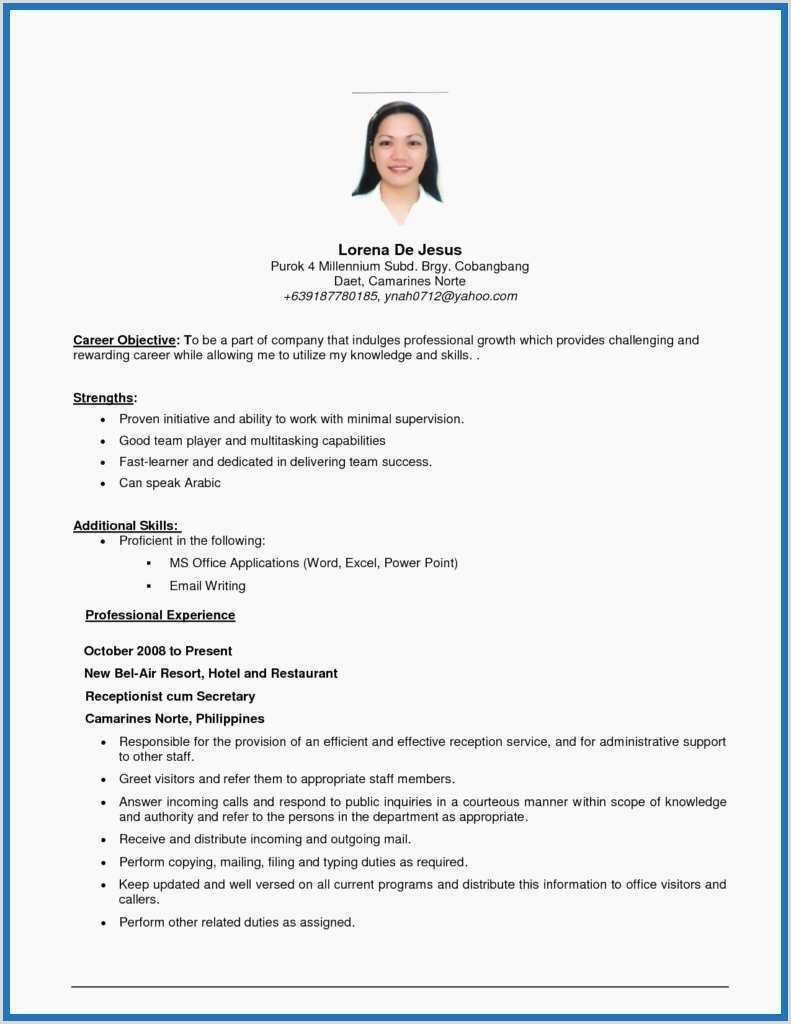 59 Elegant s First Resume Template