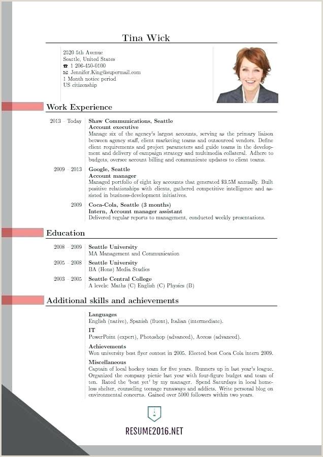 Resume format for Job Philippines Curriculum Vitae Template Pdf
