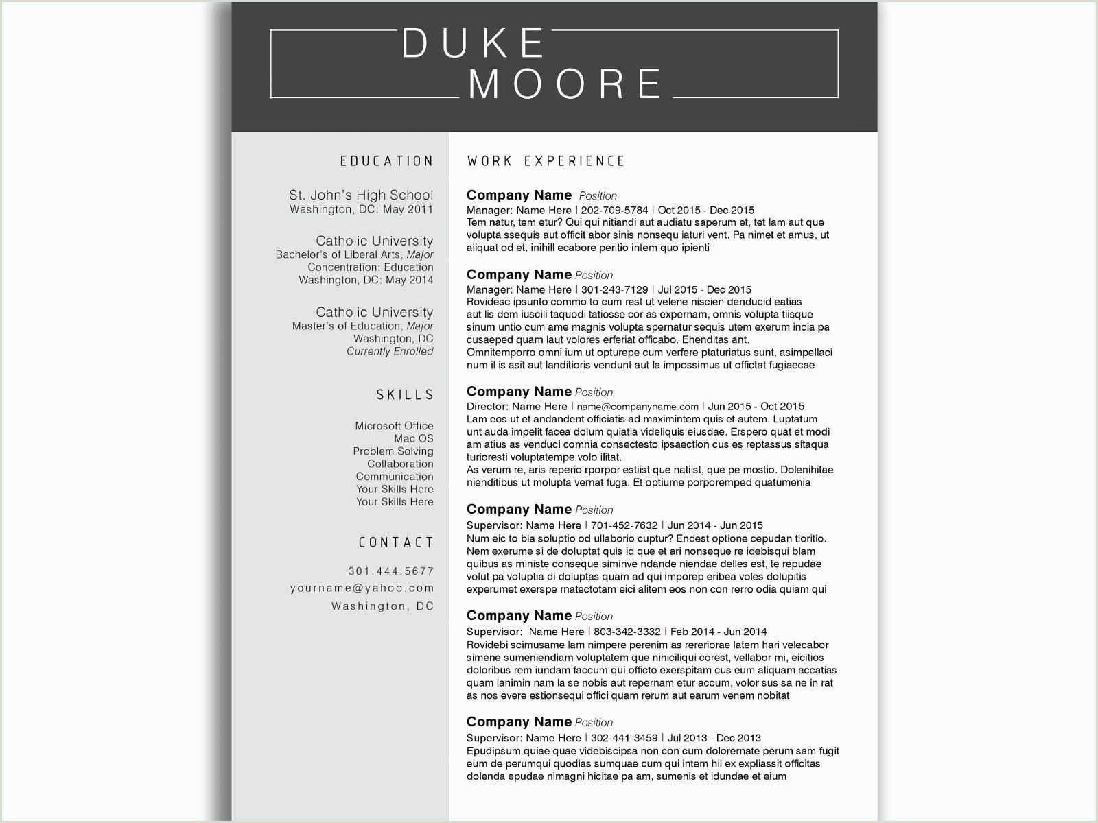 Resume Template for Construction Worker Construction Worker