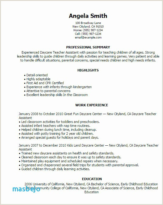 Resume format for Job Students Kindergarten Classroom Ideas Beautiful Job Description