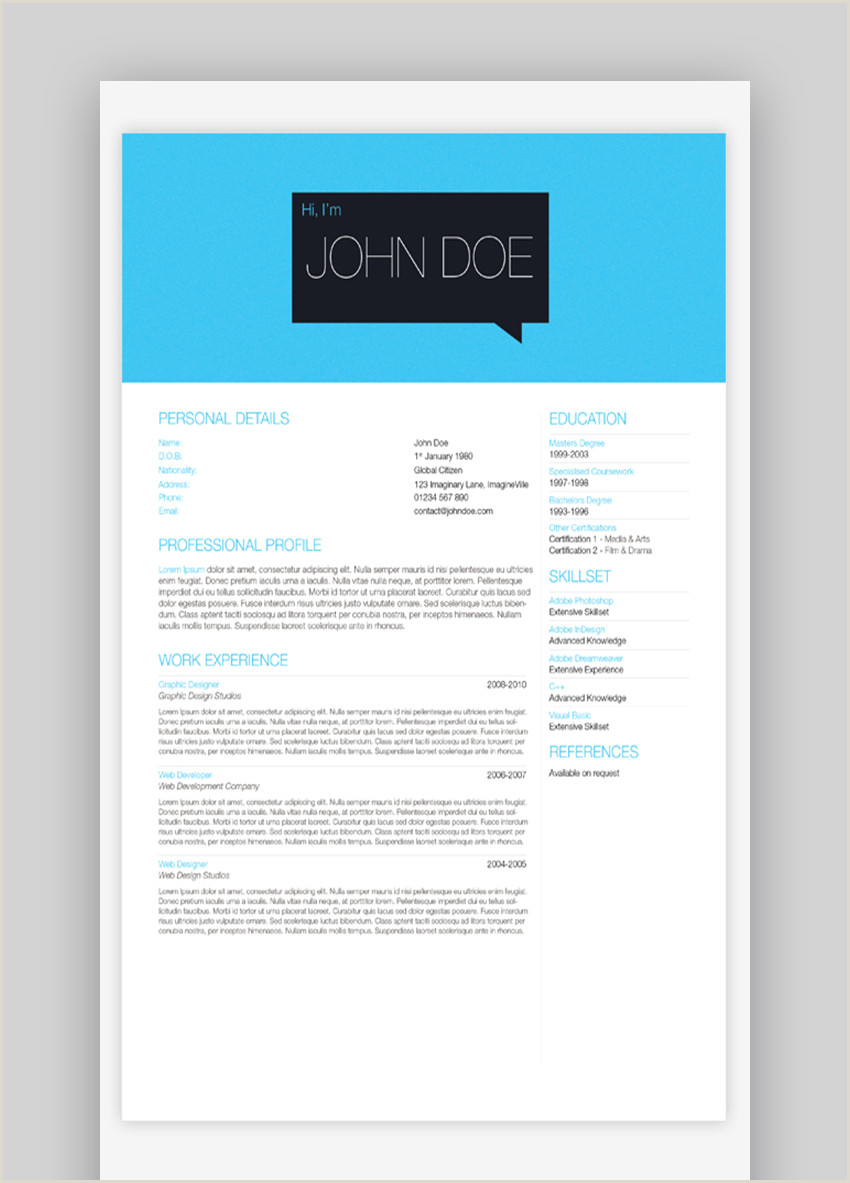 Resume format for Job Switch 25 top E Page Resume Templates Simple to Use format