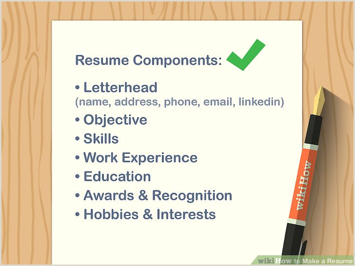 Resume format for Job Wikipedia How to Make A Resume with Wikihow