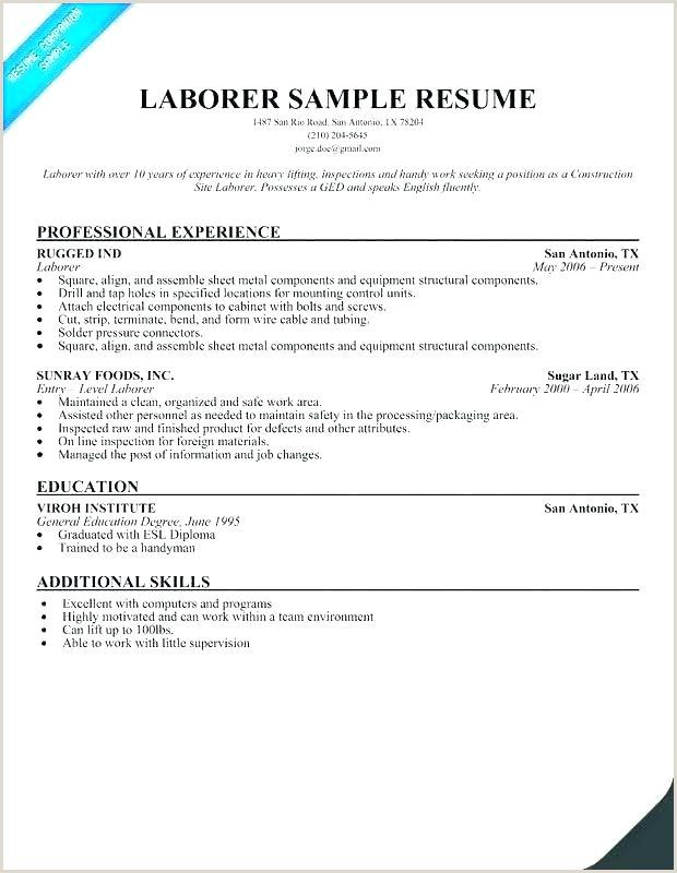 Resume Format For Labourer Jobs Labourer Resume Template – Caseyroberts