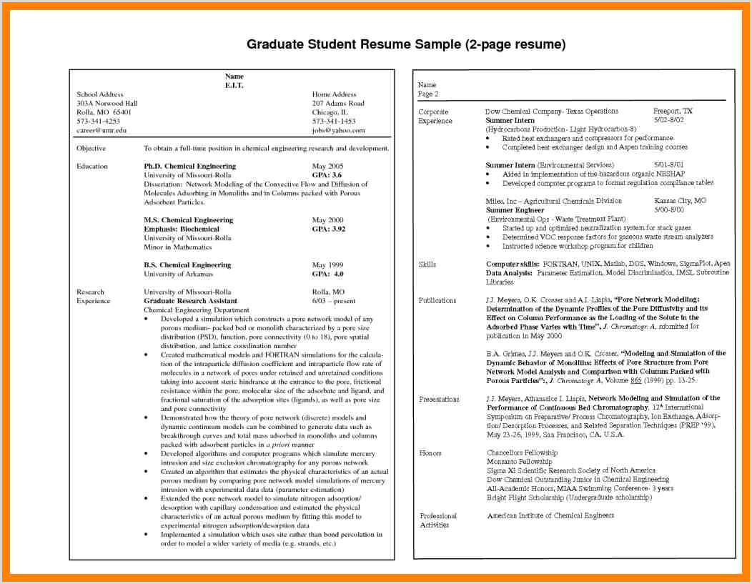 Resume Format For Lecturer Job In Computer Science Cv Format For Teacher Job Best Two Page Resume Format 7