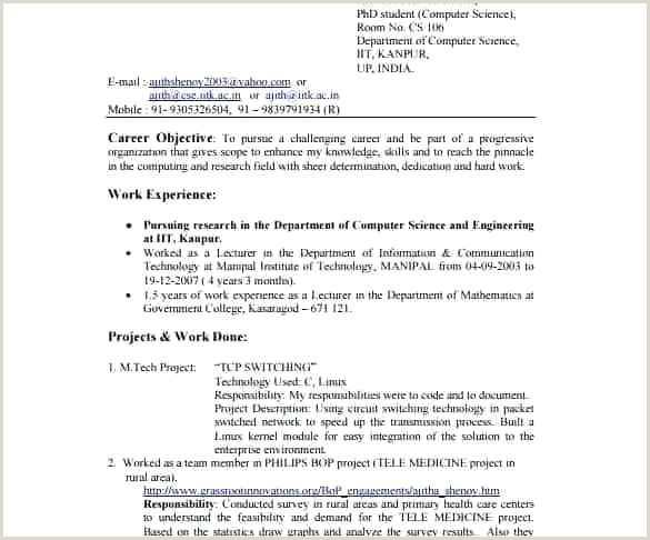 Resume Format For Lecturer Job In Computer Science Resume For Puter Science Student Professional Sample