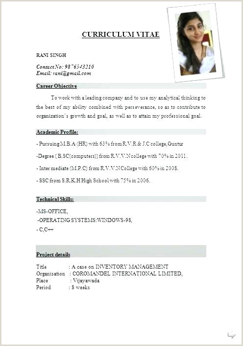 Resume format for Lecturer Job Pdf Job Resume Template Pdf