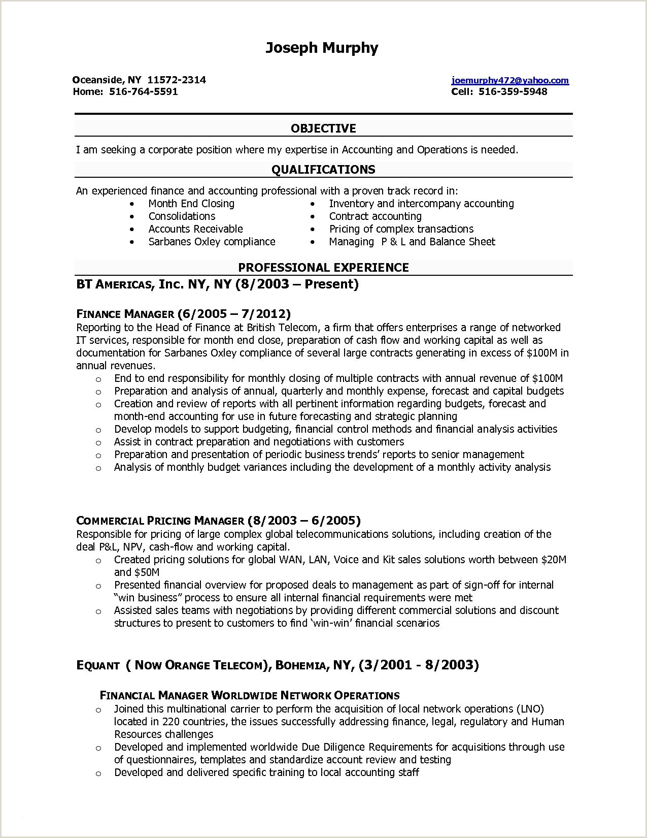 Resume format for Legal Job Fresh Accounting Resume Template