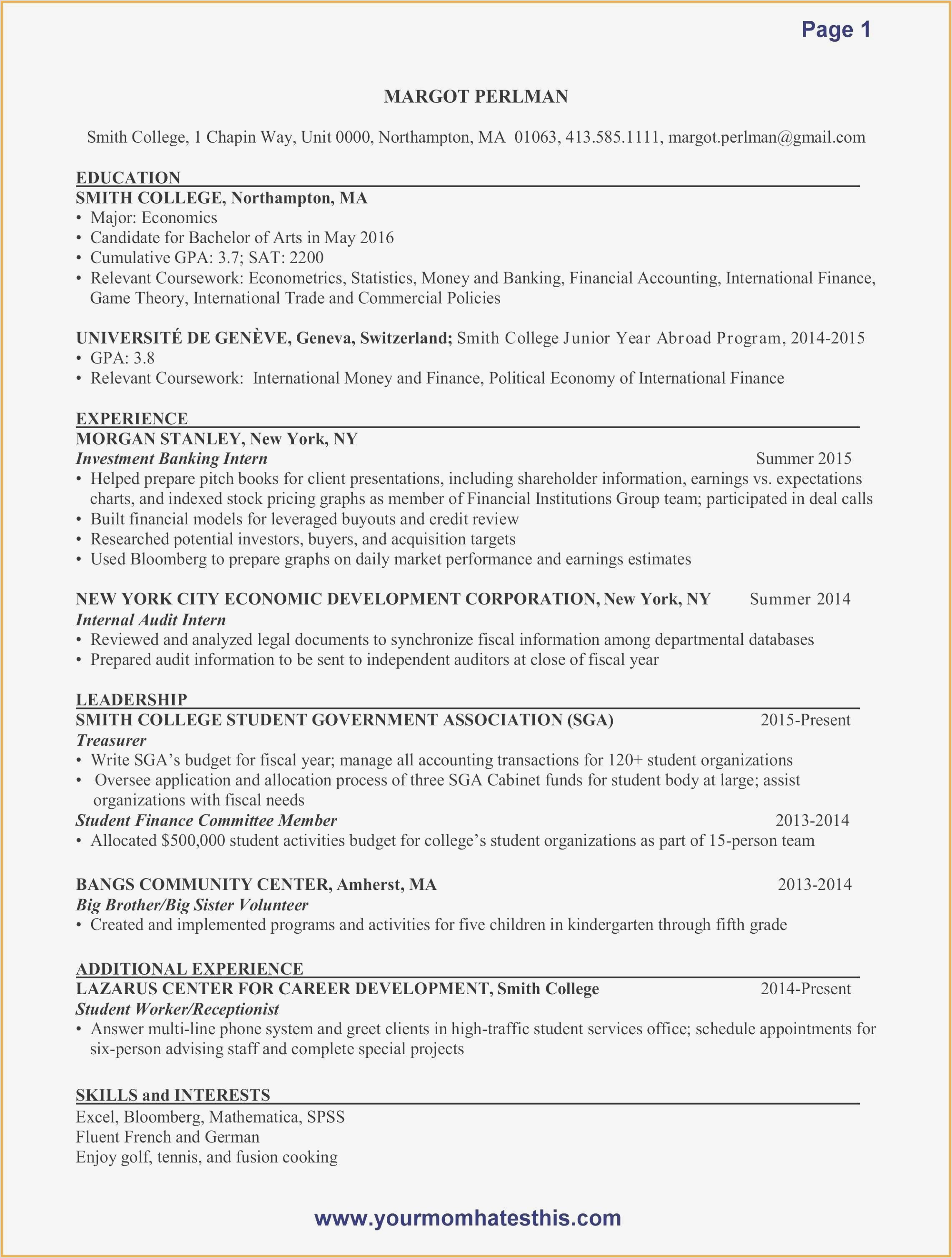Unique Resume 2015