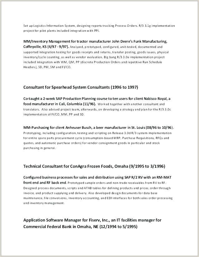 Resume Format For Logistics Job Jd Format Template