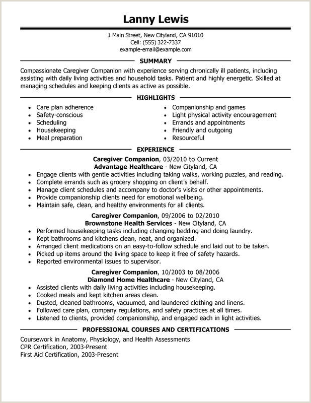 Caregivers panions Resume Sample Resume