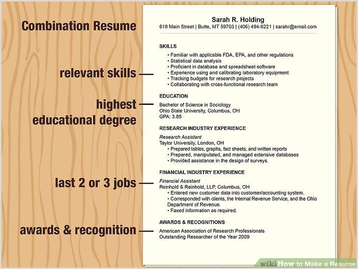 How to Make a Resume with wikiHow