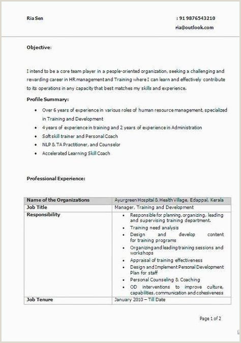 Resume format for No Job Experience 70 Cool Graphy Resume Samples for Teachers In Kerala