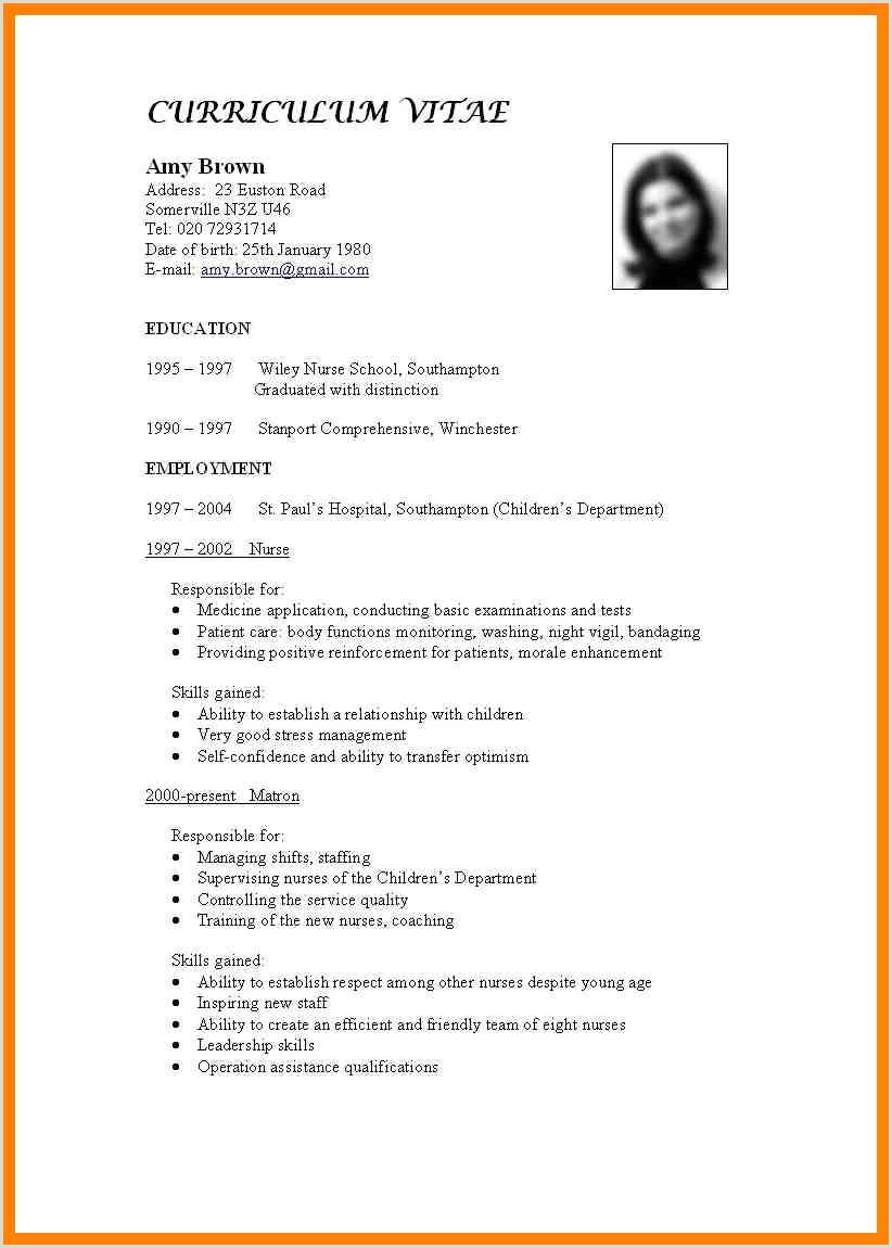 Resume format for Nursing Job Pdf 15 Make Resume for Job