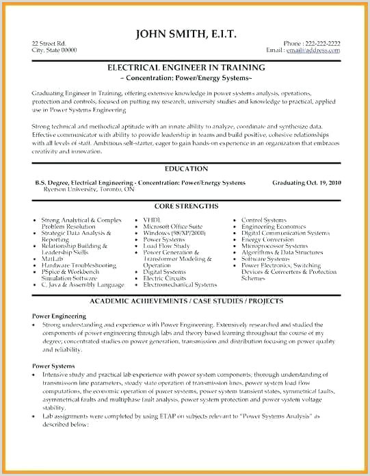Resume format for On Job Training Electrical Resume Sample – Dstic